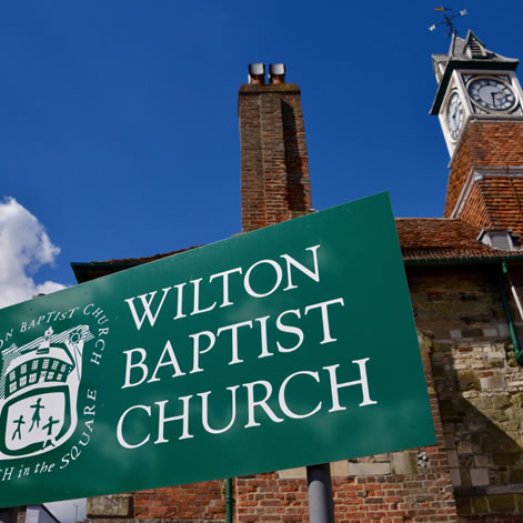 Wilton Baptist Church - Church sign